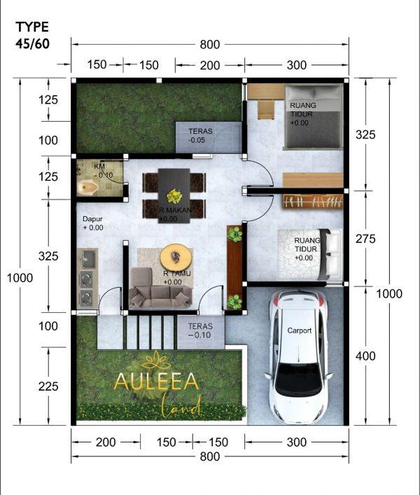 jual Auleea Land Type 45 60