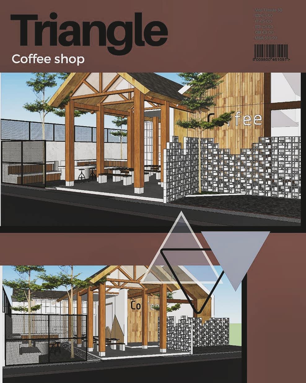 Jasa Desain Arsitektur triangle coffe shop