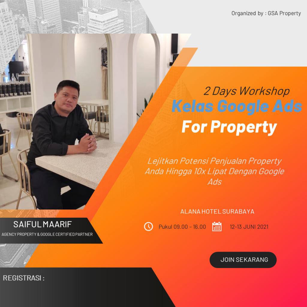 workshop Google Ads For Property di surabaya