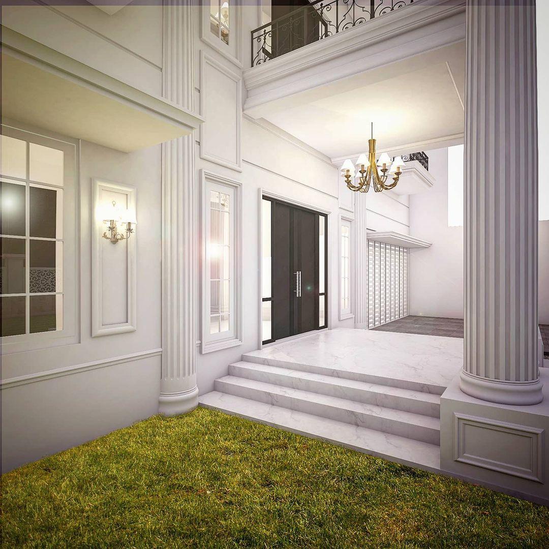 jasa desain interior rumah mewah 2 lantai